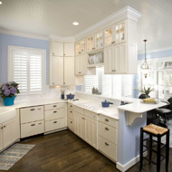 Kitchen with Window Shutters