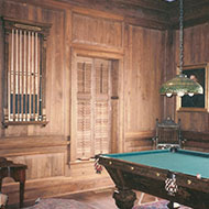 Shutters Next to Pool Table